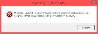 Photo of Crysis 3 CryEA.dll Eksik Hatası Çözümü
