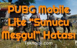 "PUBG Mobile Lite ""Sunucu Meşgul"" Hatası"