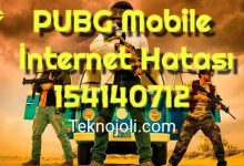 Photo of PUBG Mobile İnternet Hatası 154140712