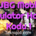 PUBG Mobile Emulator Hata Kodu 1