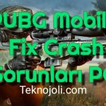 PUBG Mobile Fix Crash Sorunları PC