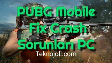 Photo of PUBG Mobile Fix Crash Sorunları PC