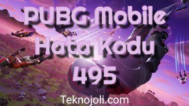 Photo of PUBG Mobile Hata Kodu 495