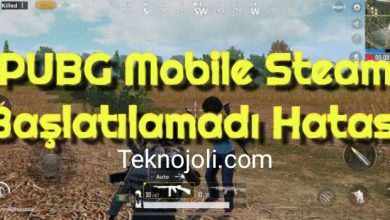 Photo of PUBG Mobile Steam Başlatılamadı Hatası