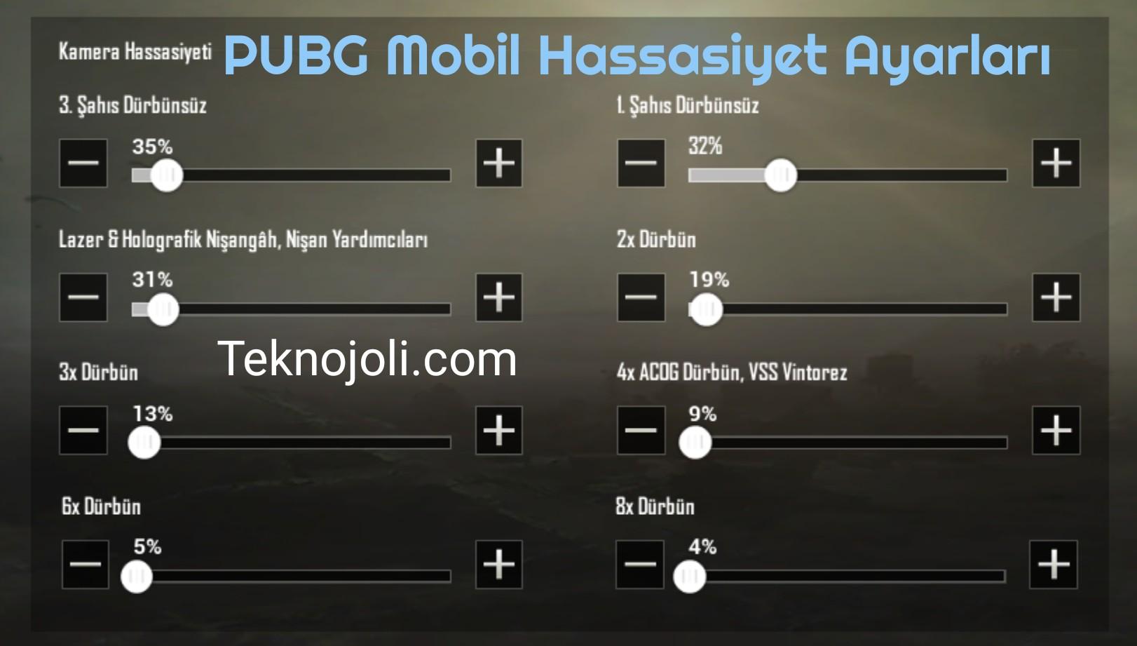 PUBG Mobil Hassasiyet Ayarları