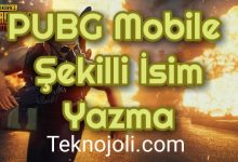 Photo of PUBG Mobile Şekilli İsim Yazma