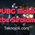 PUBG Mobile Rütbe Sıralaması