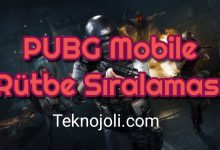 Photo of PUBG Mobile Rütbe Sıralaması