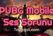 Photo of PUBG Mobile Ses Sorunu