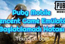 Photo of Tencent Game Emülatör Başlatılamadı Hatası PUBG Mobile