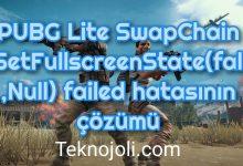 Photo of PUBG Lite SwapChain – SetFullscreenState(false,Null) failed Hatası [Çözüm]