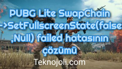 Photo of PUBG Lite SwapChain – SetFullscreenState(false,Null) failed Hatası [Çözüm]